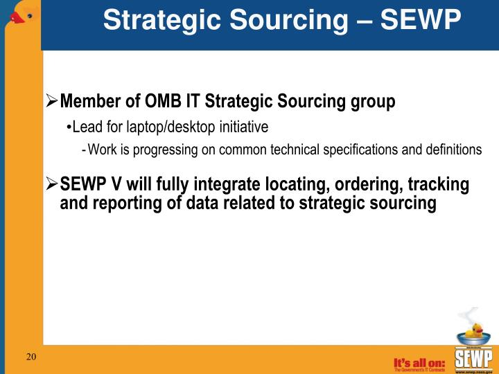 Strategic Sourcing – SEWP