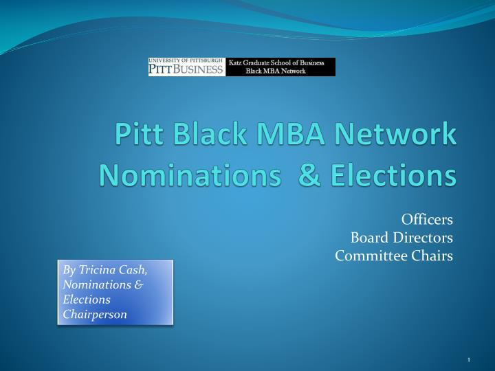pitt black mba network nominations elections n.