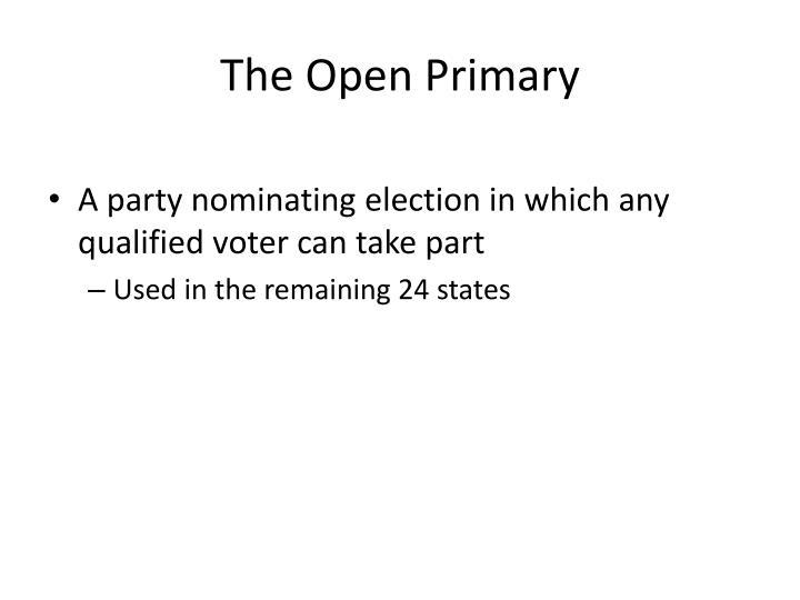 The Open Primary