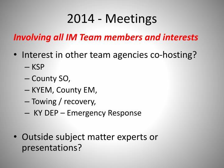 2014 - Meetings