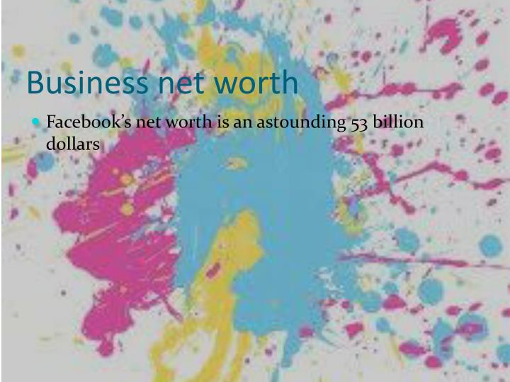 Business net worth