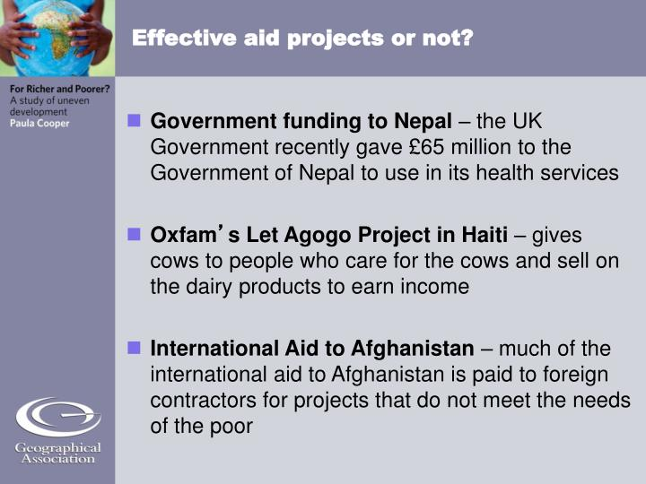 Effective aid projects or not?