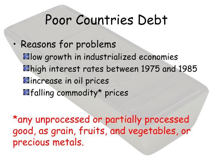 Poor Countries Debt
