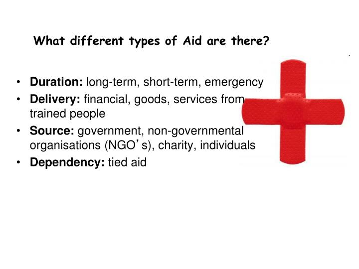 What different types of Aid are there?