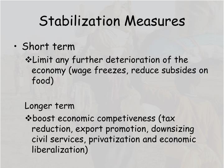 Stabilization Measures