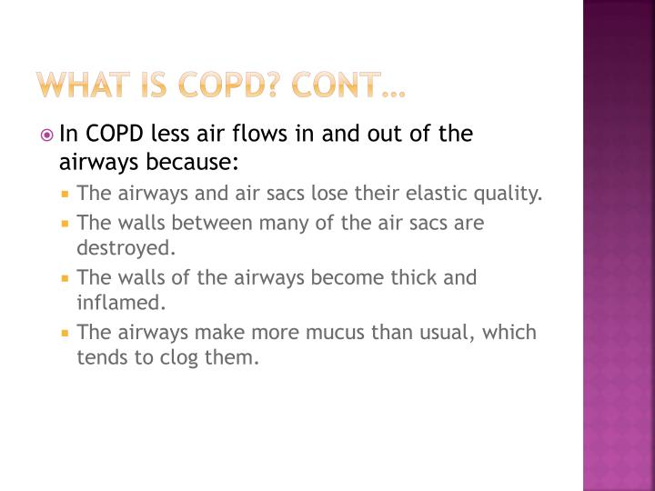 What is copd cont