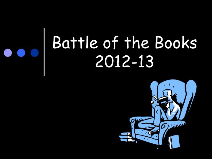 battle of the books 2012 13 n.