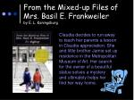 from the mixed up files of mrs basil e frankweiler by e l koningsburg
