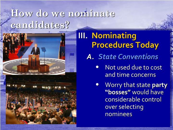 How do we nominate candidates?