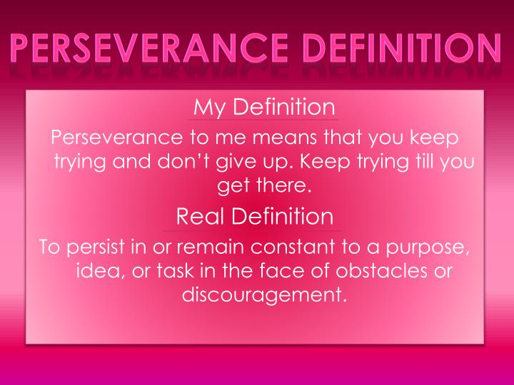 Perseverance Definition