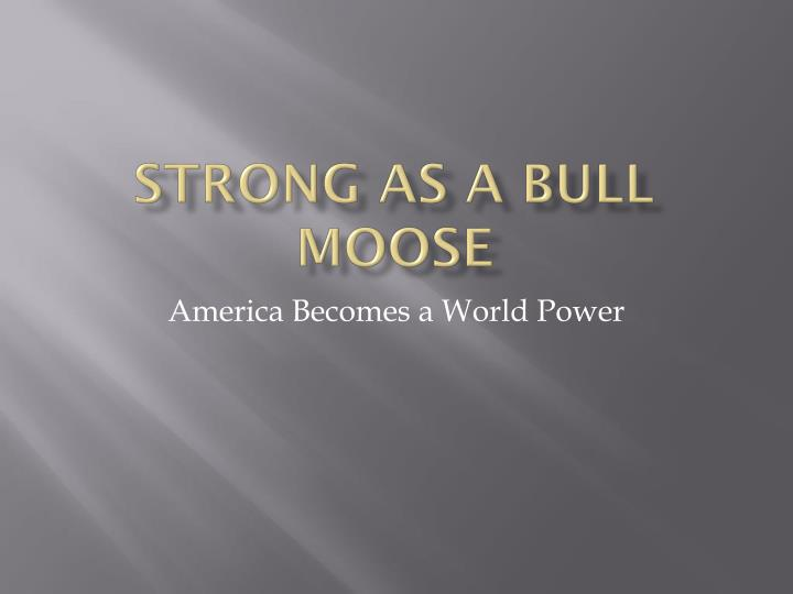 strong as a bull moose n.