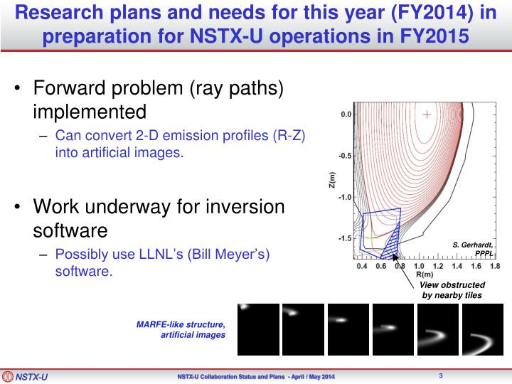 Research plans and needs for this year fy2014 in preparation for nstx u operations in fy20151