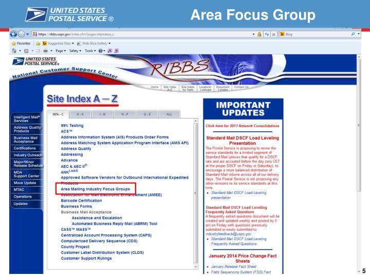 Area Focus Group