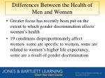 differences between the health of men and women