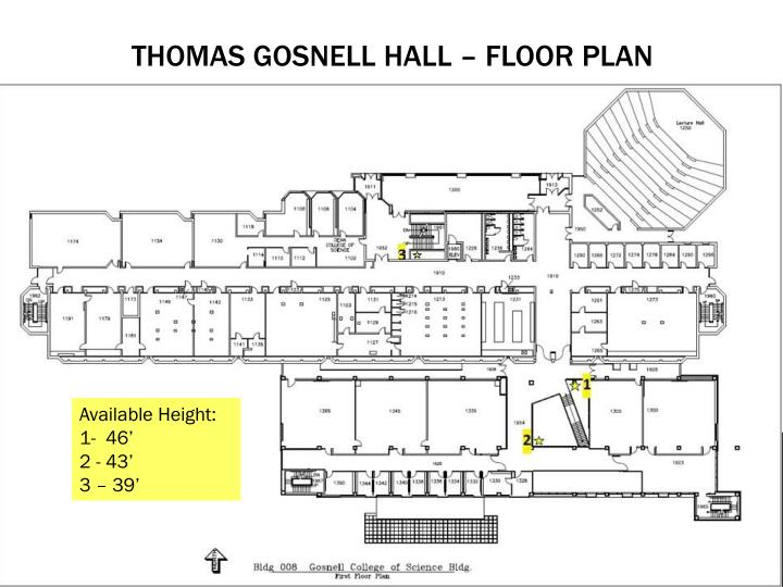 Thomas gosnell hall floor plan