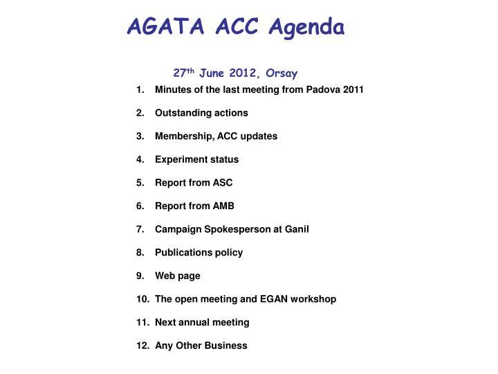 Agata acc agenda 27 th june 2012 orsay