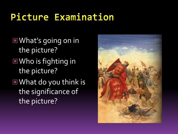 picture examination n.