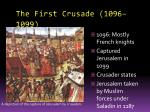 the first crusade 1096 1099