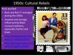 1950s cultural rebels
