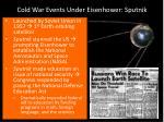 cold war events under eisenhower sputnik