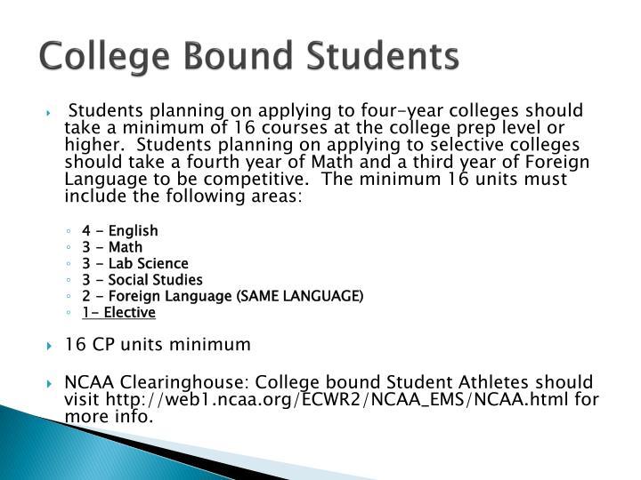 College bound students