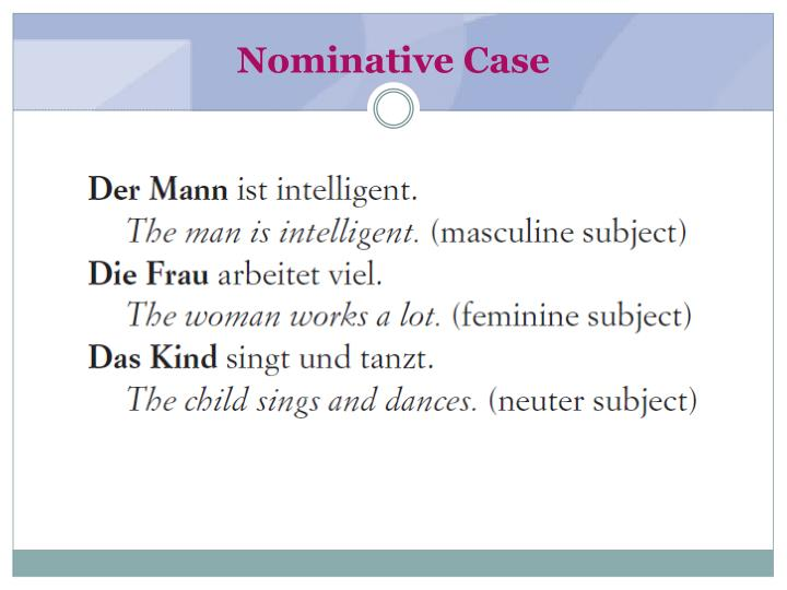 Nominative case