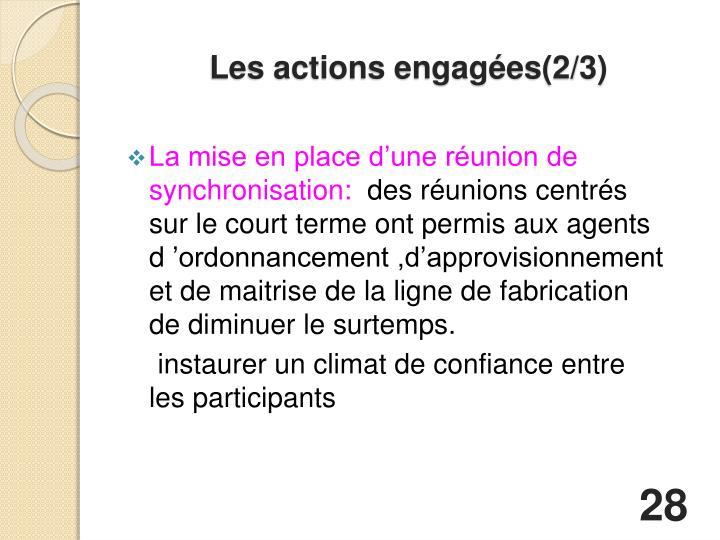 Les actions engagées(2/3)
