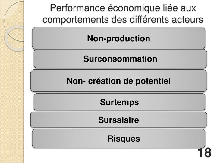 Performance économique liée aux comportements des différents acteurs