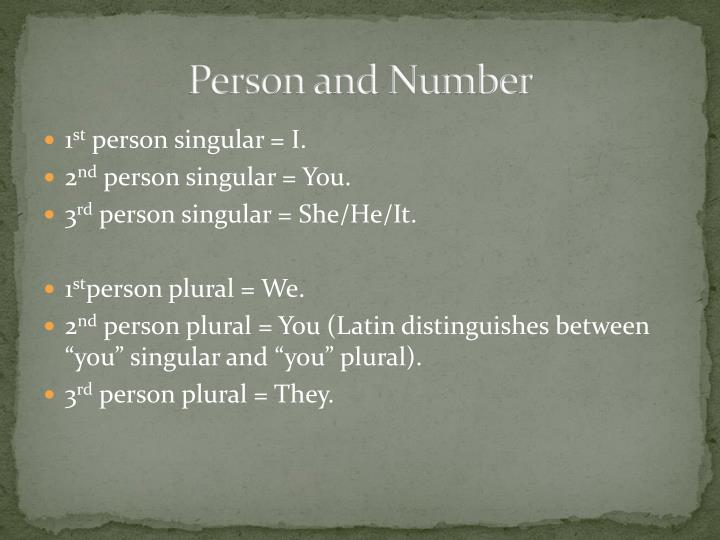 Person and number