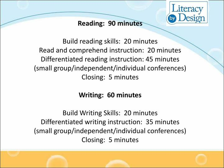 Reading:  90 minutes