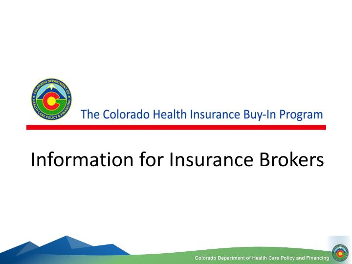 information for insurance brokers n.
