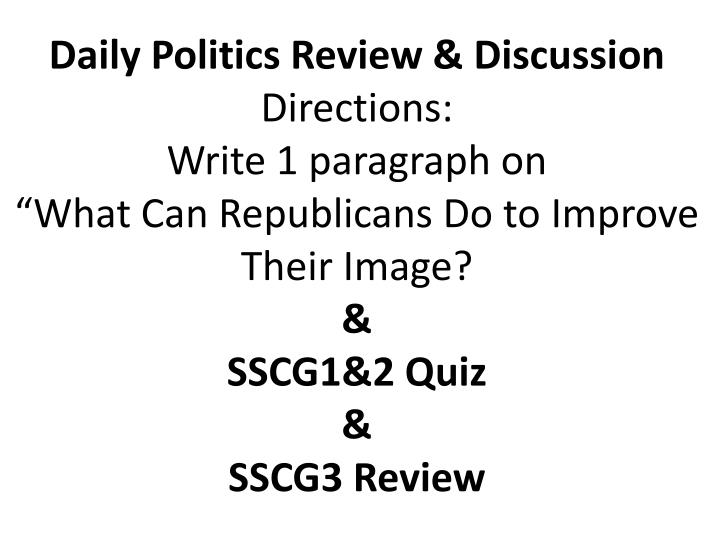 Daily Politics Review & Discussion
