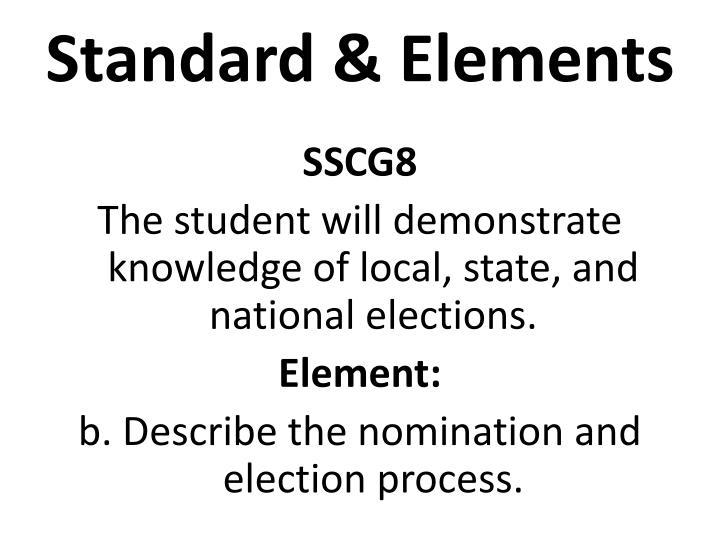 Standard elements