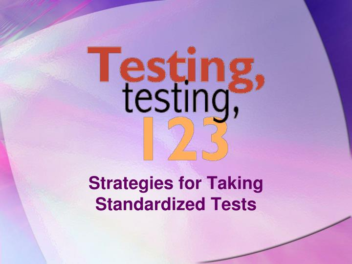 strategies for taking standardized tests n.