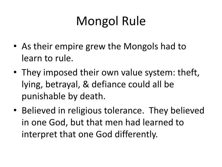 Mongol Rule