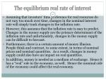 the equilibrium real rate of interest