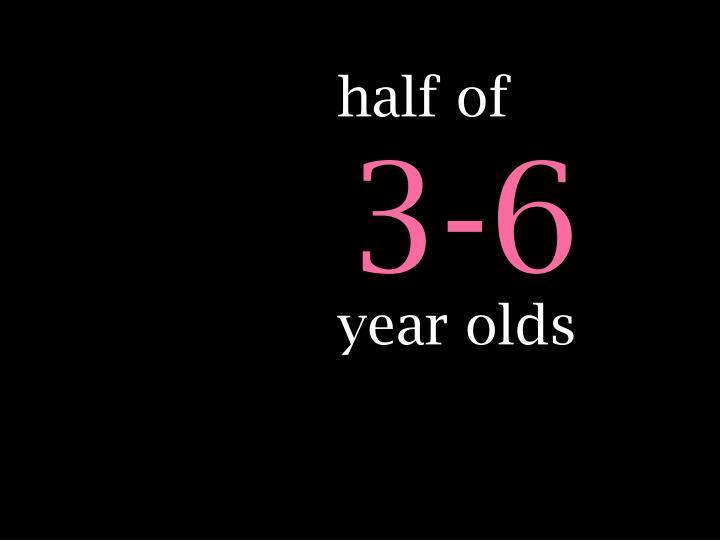 half of