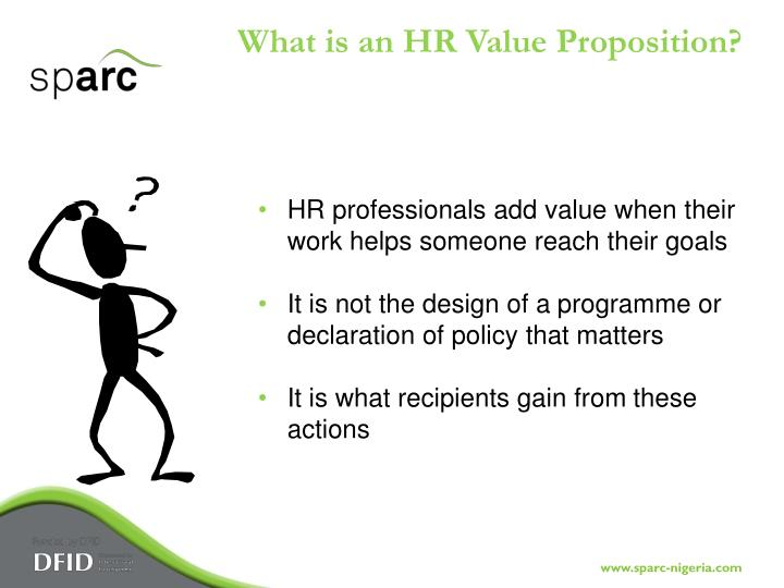 What is an HR Value Proposition?