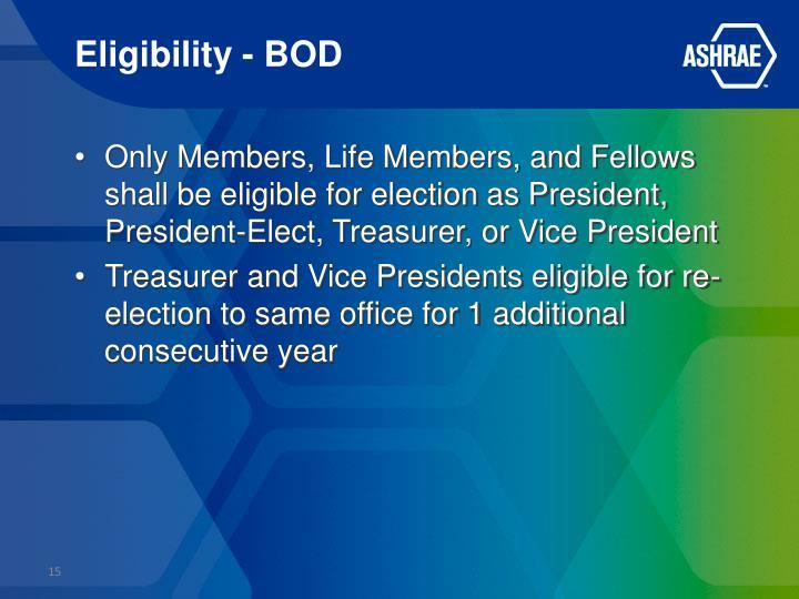 Eligibility - BOD