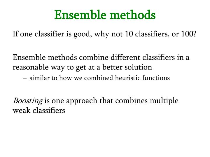 Ensemble methods