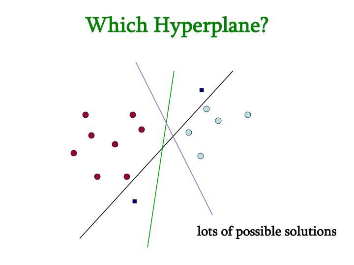 Which Hyperplane?