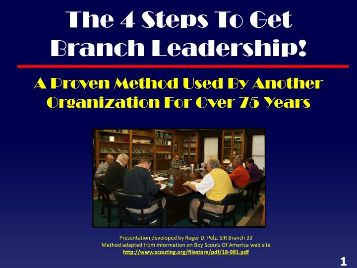 The 4 steps to get branch leadership