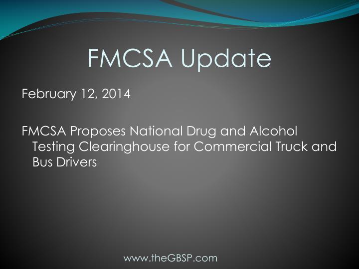 FMCSA Update