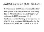 awipsii migration of abi products