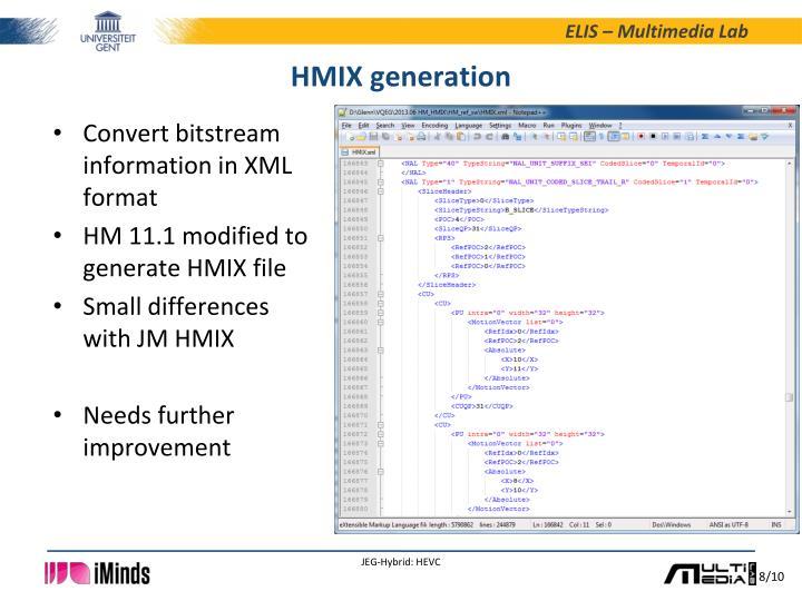 HMIX generation