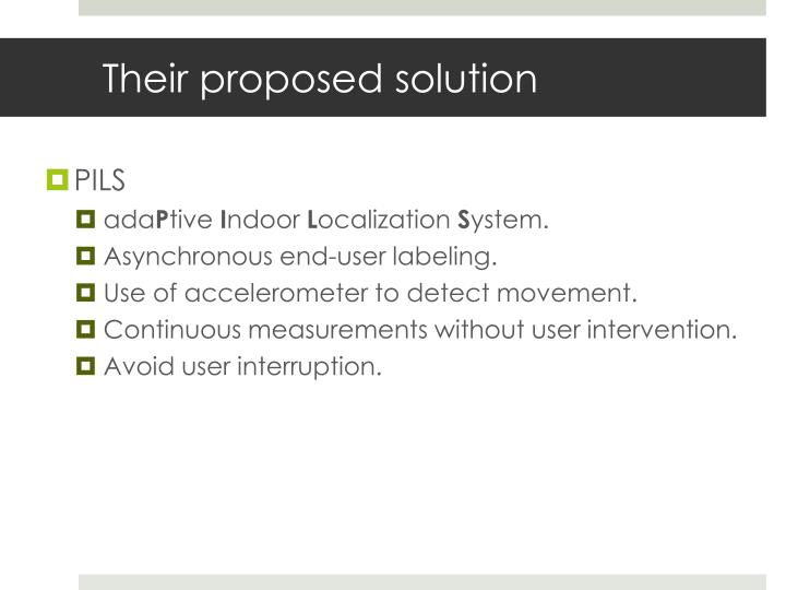 Their proposed solution