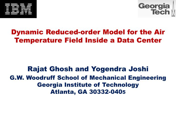 Dynamic reduced order model for the air temperature field inside a data center