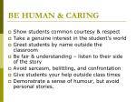 be human caring