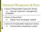 classroom management stress