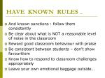 have known rules